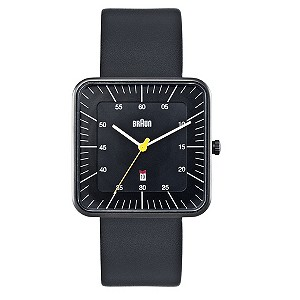 Braun men's black square dial strap watch - Product number 9339019