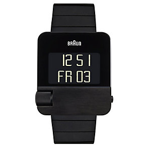 Braun men's black ion plated strap watch - Product number 9339183