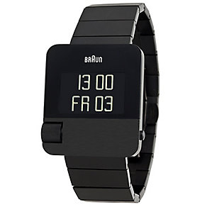 Braun men's black ion plated digital bracelet watch - Product number 9339191