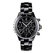 Chanel J12 Black Chronograph Bracelet Watch - Product number 9339493