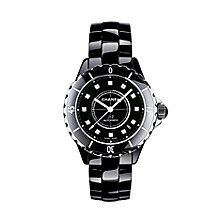 Chanel J12 Black Ceramic Watch with Diamond Indicators - Product number 9339647