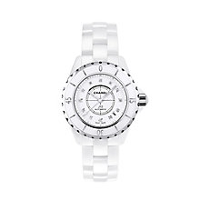 Chanel J12 white ceramic diamond set bracelet watch - Product number 9339655