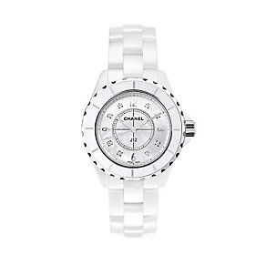 Chanel J12 White Ceramic Watch with Diamond Indicators - Product number 9339671
