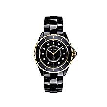 Chanel J12 black ceramic & 18ct rose gold bracelet watch - Product number 9339698