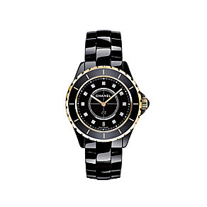 Chanel J12 black ceramic & 18ct rose gold bracelet watch - Product number 9339698