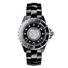 Chanel J12 black ceramic diamond set bracelet watch - Product number 9339728