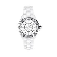 Chanel J12 white ceramic diamond set bracelet watch - Product number 9339752