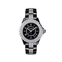 Chanel J12 black ceramic diamond set bracelet watch - Product number 9339760