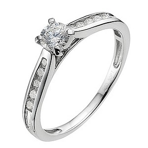Platinum 1/2 carat diamond solitaire ring - Product number 9340831