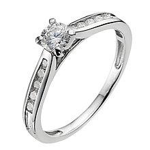 Platinum 0.50ct diamond solitaire ring - Product number 9340831