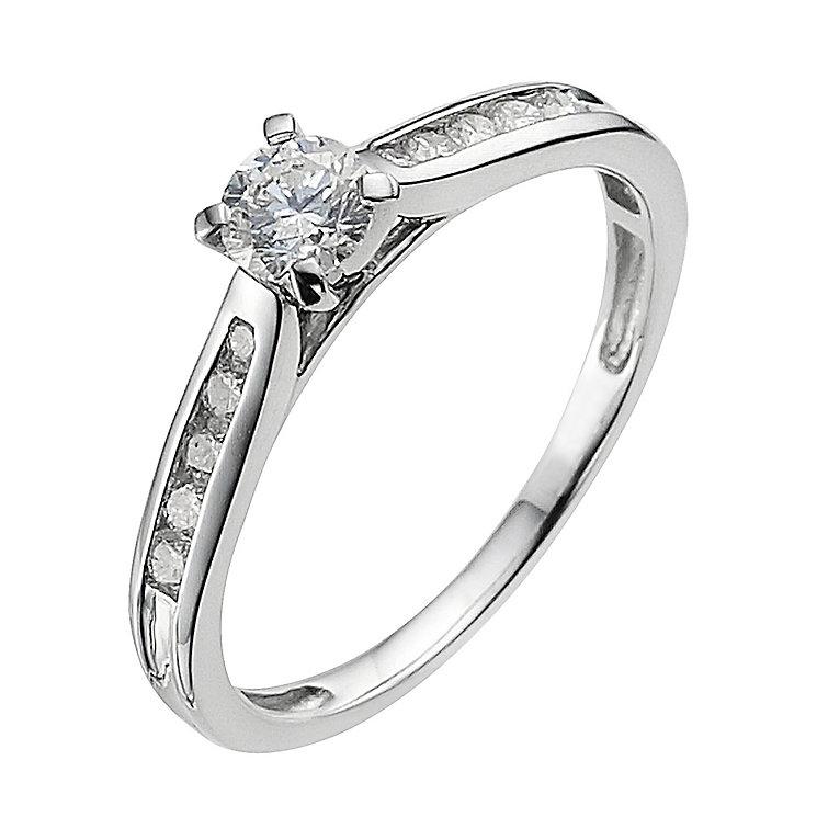Platinum 0.33ct diamond solitaire ring - Product number 9341102