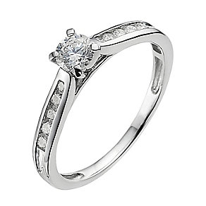 Platinum 0.33ct diamond solitaire ring - Product number 9341102