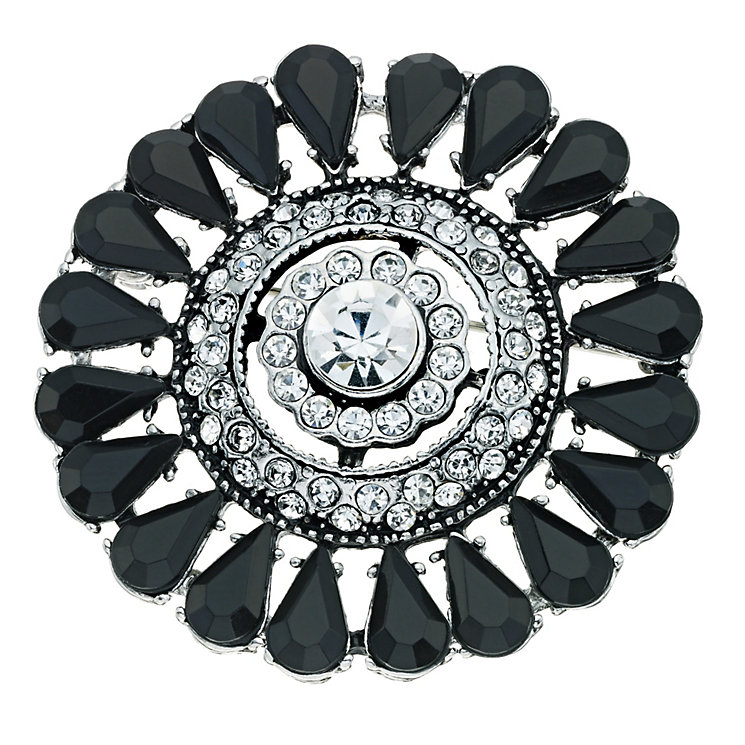 Crystal & Jet Deco Brooch - Product number 9341323