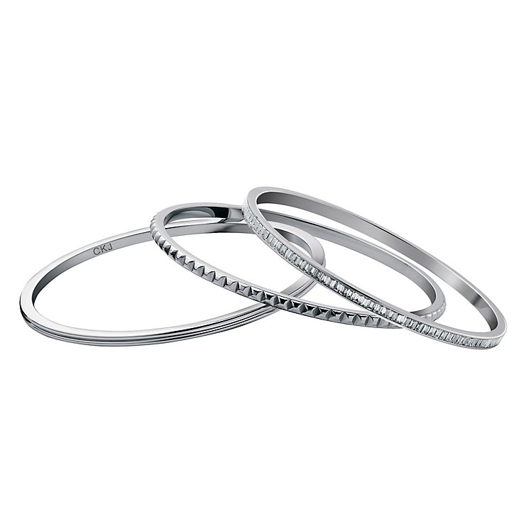 Calvin Klein stainless steel Astound set of 3 bangles - Product number 9342249