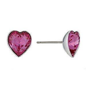 Swarovski Roslyn rose heart stud earrings - Product number 9342648
