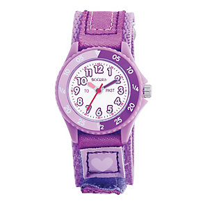 Tikkers Teach Lilac Velcro Strap Watch - Product number 9343946
