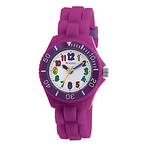 Tikkers Teach Purple Silicone Strap Watch - Product number 9343954