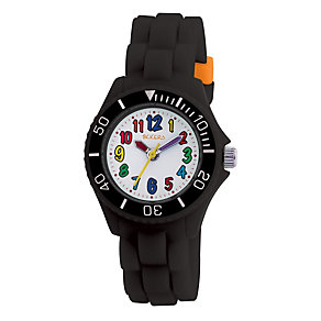 Tikkers Teach Black Silicone Strap Watch - Product number 9343962