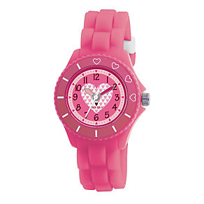 Tikkers Teach Pink Silicone Strap Watch - Product number 9343997