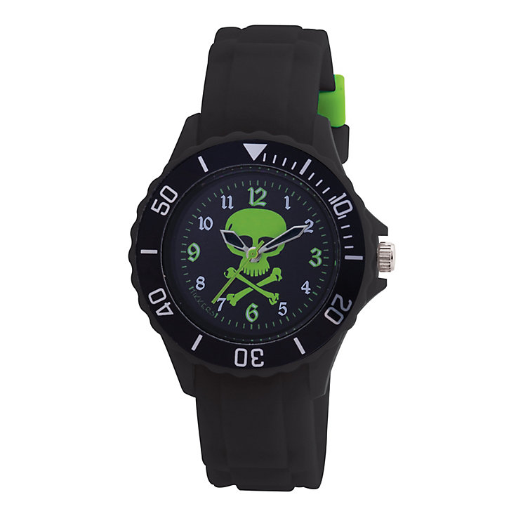 Tikkers Teach Skull Dial Black Silicone Strap Watch - Product number 9344012