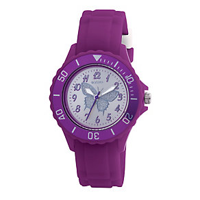 Tikkers Teach Purple Butterfly Silicone Watch - Product number 9344047