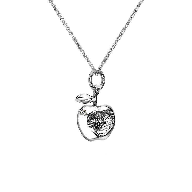 Hot Diamonds Silver Amp Diamond Apple Pendant H Samuel