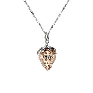 Hot Diamonds Silver & Diamond Strawberry Pendant - Product number 9345434