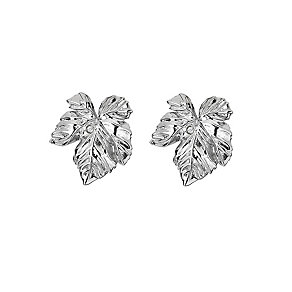 Hot Diamonds Silver & Diamond Leaf Stud Earrings - Product number 9345442