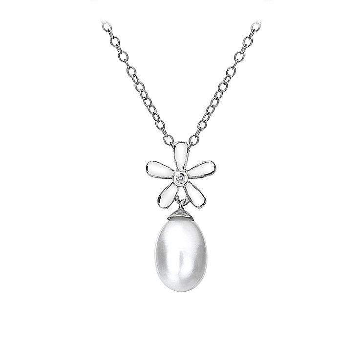 Hot Diamonds Silver Flower Diamond & Pearl Pendant - Product number 9345744