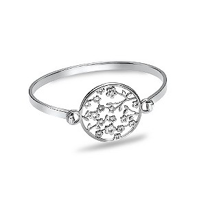 Hot Diamonds Silver & Diamond Flower Disc Bangle - Product number 9346058