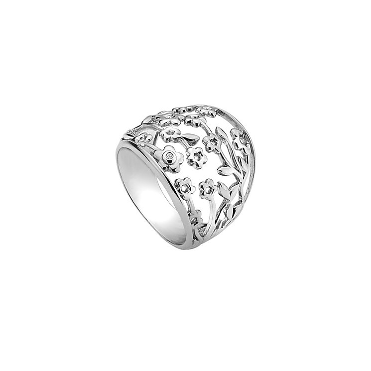 Hot Diamonds Silver & Diamond Flower Ring Size N - Product number 9346236