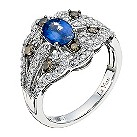 Le Vian 14ct white gold diamond & sapphire jubilee ring - Product number 9350284
