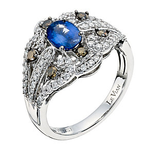 Le Vian 14ct Vanilla Gold diamond & sapphire jubilee ring - Product number 9350284