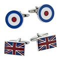 Union Jack & RAF Roundel Two Piece Cufflinks Set - Product number 9351299