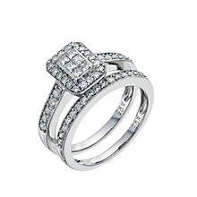 9ct White Gold 3/4 Carat Diamond Perfect Fit Bridal Set - Product number 9351701