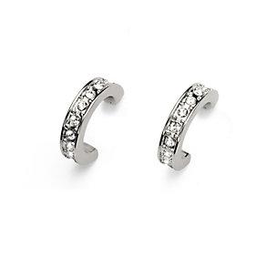 Oliver Weber Crystal Set Half Hoop Earrings - Product number 9358919