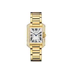 Cartier Tank Anglaise ladies' 18ct gold bracelet watch - Product number 9362282