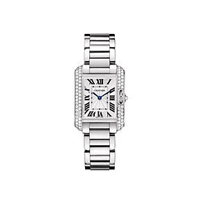 Cartier Tank Anglaise ladies' 18ct white gold bracelet watch - Product number 9362304