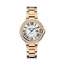 Cartier Ballon Bleu 33mm ladies' rose gold bracelet watch - Product number 9362487
