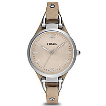 Fossil Ladies' Beige Leather Strap Watch - Product number 9364064