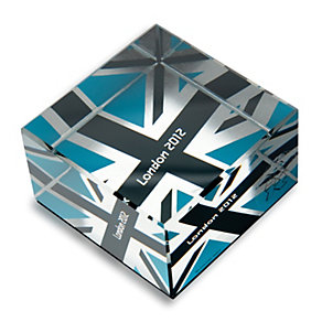 London 2012 Blue Union Jack Mirrored Gift Block - Product number 9364099