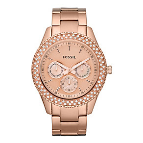 Fossil Ladies' Rose Gold-Plated Bracelet Watch - Product number 9364439