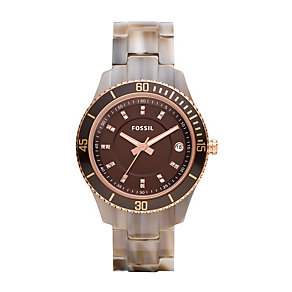 Fossil Ladies' Brown Bracelet Watch - Product number 9364447