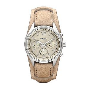 Fossil Ladies' Golden Leather Strap Watch - Product number 9364943