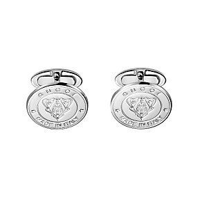 Gucci men's sterling silver crest cufflinks - Product number 9367470