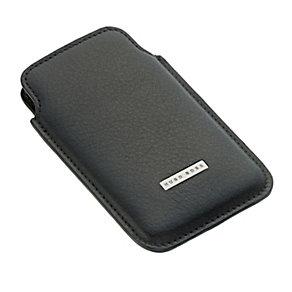 Hugo Boss Barti men's black leather iphone case - Product number 9373098