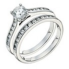 Tolkowsky 18ct platinum one carat I-I1 diamond bridal set - Product number 9379894