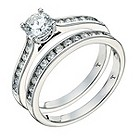 Tolkowsky 18ct white gold 1carat HI-VS2 diamond bridal set - Product number 9381465