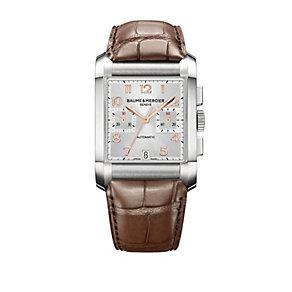 Baume & Mercier Hampton men's chronograph brown strap watch - Product number 9382933