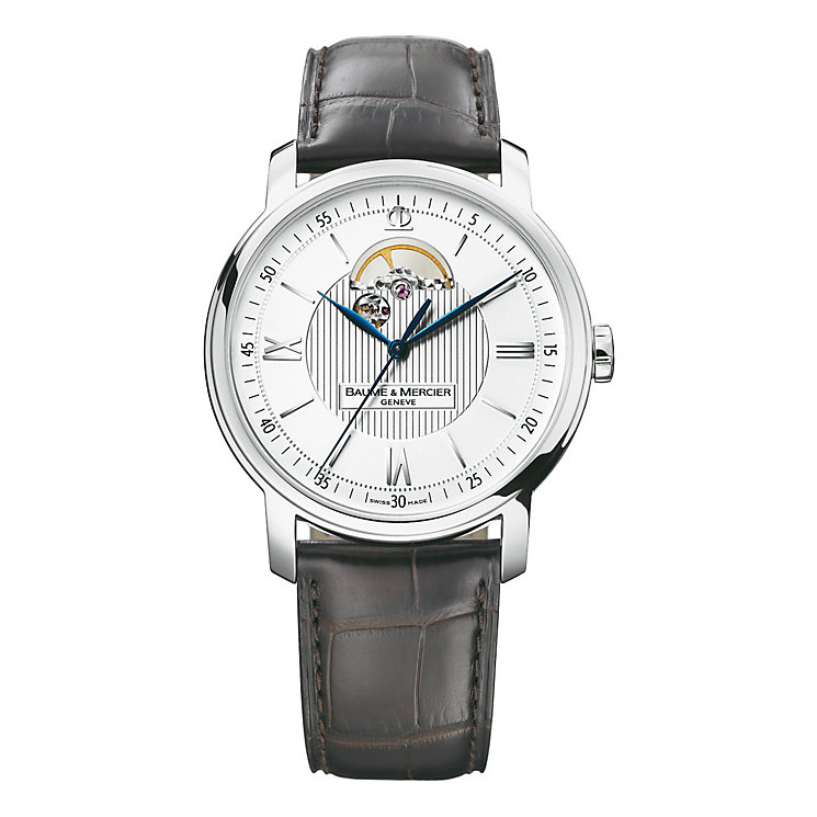 Baume & Mercier men's brown leather strap watch - Product number 9382968